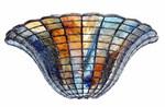 Tiffany lampe half lotus